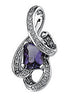 Astonishing Genuine Gemstone Amethyst Pendant for SALE at BitCoin Gems