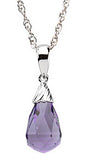 Graceful Genuine Gemstone Amethyst Pendant for SALE at BitCoin Gems