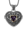 Delightful Genuine Gemstone Amethyst Pendant for SALE at BitCoin Gems