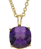 Fetching Genuine Gemstone Amethyst Pendant for SALE at BitCoin Gems