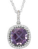Beautiful Genuine Gemstone Amethyst Pendant for SALE at BitCoin Gems