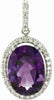 Amazing Genuine Gemstone Amethyst Pendant for SALE at BitCoin Gems