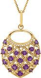 Super Glam Genuine Gemstone Amethyst Pendant for SALE at BitCoin Gems