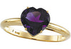 Fine Amethyst Genuine Gemstone Ring at BitCoin Gems