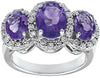 Beautiful Amethyst Genuine Gemstone Ring at BitCoin Gems
