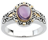 Elegant Amethyst Genuine Gemstone Ring at BitCoin Gems