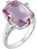 Eye Catching Amethyst Genuine Gemstone Ring at BitCoin Gems