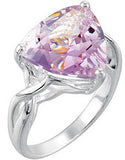 Desirable Amethyst Genuine Gemstone Ring at BitCoin Gems