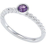 Pretty Amethyst Genuine Gemstone Ring at BitCoin Gems