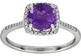 Trendy Amethyst Genuine Gemstone Ring at BitCoin Gems