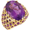 Best Amethyst Genuine Gemstone Ring at BitCoin Gems