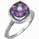 Gorgeous Amethyst Genuine Gemstone Ring at BitCoin Gems