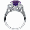 Magnificent Amethyst Genuine Gemstone Ring at BitCoin Gems