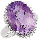 Imressive Amethyst Genuine Gemstone Ring at BitCoin Gems