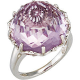 Lovely Amethyst Genuine Gemstone Ring at BitCoin Gems