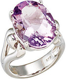 Timeless Amethyst Genuine Gemstone Ring at BitCoin Gems