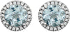 Classic Genuine Gemstone Aquamarine Earrings at BitCoin Gems