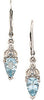 Attractive Genuine Gemstone Aquamarine Earrings at BitCoin Gems