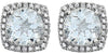 Amazing Genuine Gemstone Aquamarine Earrings at BitCoin Gems