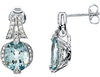 Ravishing Genuine Gemstone Aquamarine Earrings at BitCoin Gems