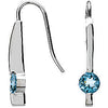 Radiant Genuine Gemstone Aquamarine Earrings at BitCoin Gems