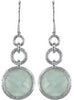 Beautiful Genuine Gemstone Aquamarine Earrings at BitCoin Gems