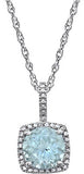 Classic Genuine Gemstone Aquamarine Pendant for SALE at BitCoin Gems