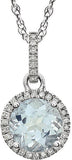 Fashionable Genuine Gemstone Aquamarine Pendant for SALE at BitCoin Gems
