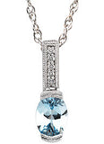 Lovely Genuine Gemstone Aquamarine Pendant for SALE at BitCoin Gems