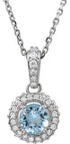 Incredible Genuine Gemstone Aquamarine Pendant for SALE at BitCoin Gems