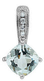 Exquisite Genuine Gemstone Aquamarine Pendant for SALE at BitCoin Gems