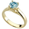 Trendy Aquamarine Genuine Gemstone Ring at BitCoin Gems