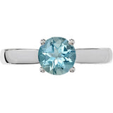 Attractive Aquamarine Genuine Gemstone Ring at BitCoin Gems