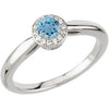 Chic Aquamarine Genuine Gemstone Ring at BitCoin Gems