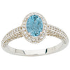 Pretty Aquamarine Genuine Gemstone Ring at BitCoin Gems