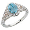 Eye Catching Aquamarine Genuine Gemstone Ring at BitCoin Gems