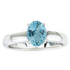 Lovely Aquamarine Genuine Gemstone Ring at BitCoin Gems