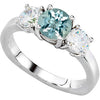 Desirable Aquamarine Genuine Gemstone Ring at BitCoin Gems