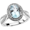 Unique Aquamarine Genuine Gemstone Ring at BitCoin Gems