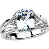 Classy Aquamarine Genuine Gemstone Ring at BitCoin Gems