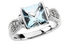 Amazing Aquamarine Genuine Gemstone Ring at BitCoin Gems