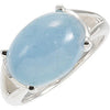 Snazzy Aquamarine Genuine Gemstone Ring at BitCoin Gems
