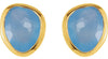Delightful Genuine Gemstone Blue Chalcedony Earrings at BitCoin Gems