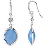 Glittering Genuine Gemstone Multi Gem Earrings at BitCoin Gems