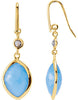 Fashionable Genuine Gemstone Multi Gem Earrings at BitCoin Gems