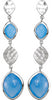 Dramatic Genuine Gemstone Blue Chalcedony Earrings at BitCoin Gems