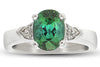 Gorgeous Blue Green Toumaline Genuine Gemstone Ring at BitCoin Gems