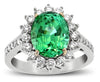 Pretty Blue Green Tourmaline Genuine Gemstone Ring at BitCoin Gems