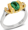 Snazzy Blue Green Tourmaline Genuine Gemstone Ring at BitCoin Gems