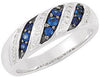 Timeless Blue Sapphire Genuine Gemstone Ring at BitCoin Gems